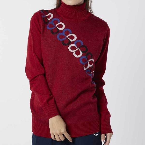 739700-RD-L marie claire マリ クレール ブランド品 レディース 人気海外一番 ライナー付きセーター サイズ:L レッド