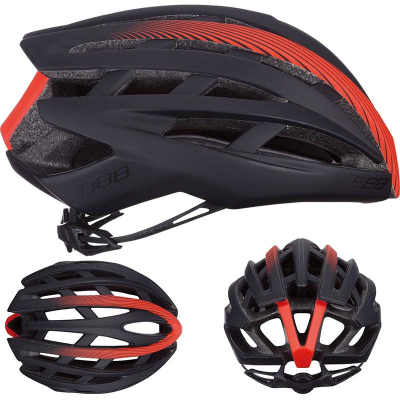 ヘルメット BBB イカロス M ブラック/レッド BHE-05 / ヘルメット/ 自転車 パーツ【送料無料】