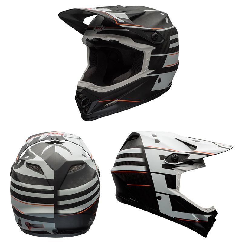 BELL FULL-9 フルナイン マットホワイトxブラックブロック ヘルメット/ ベル 自転車 大人用ヘルメット[PT_UP]