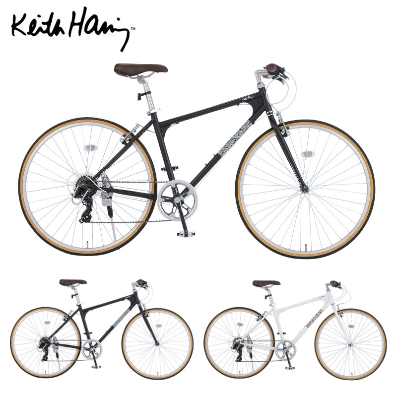【Xmas特典付】キースヘリング×ダイワサイクル コラボ クロスバイク 700C KH-7007-II-460 / KEITH HARING ダイワサイクル【大サイズ】
