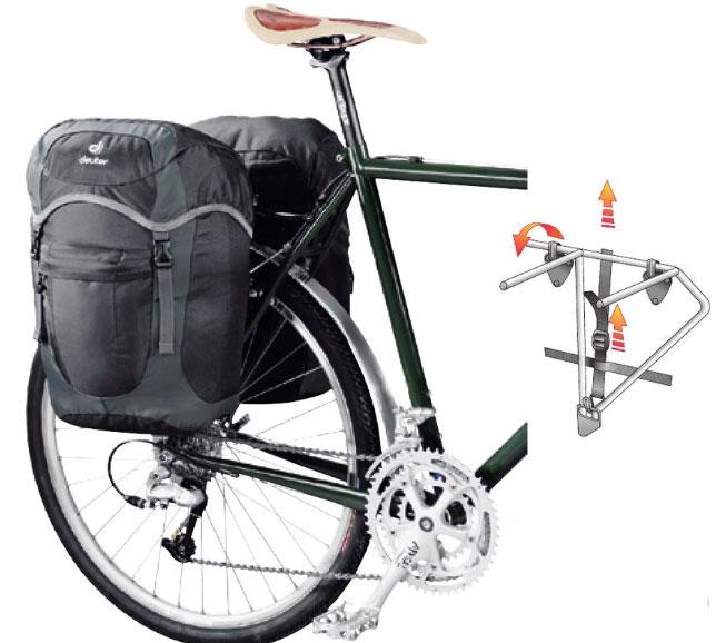 【当店ならエントリーでポイント+9倍☆9日20時から】deuter ラックパックユニ/ ドイター 自転車用 パニア バッグ【送料無料】