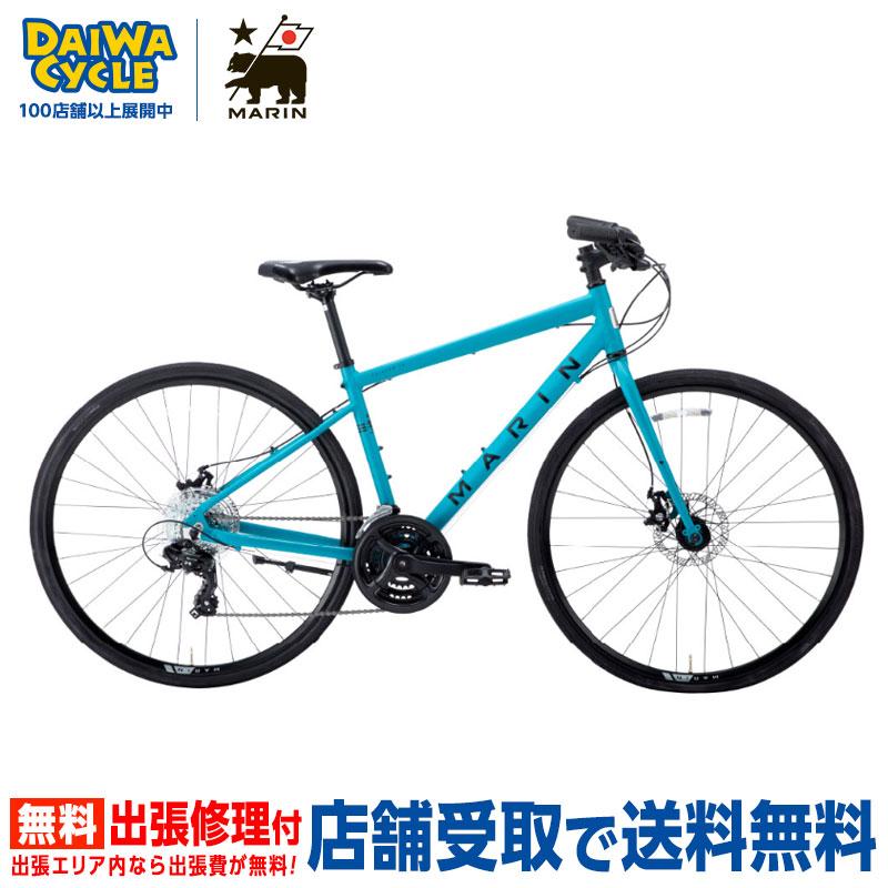 【地域限定送料無料(東京・神奈川・千葉・埼玉)】MARIN FAIRFAX DISC SE MAT.BLACK/BLUE 2020年 / マリン クロスバイク 2020年モデル 【大サイズ】