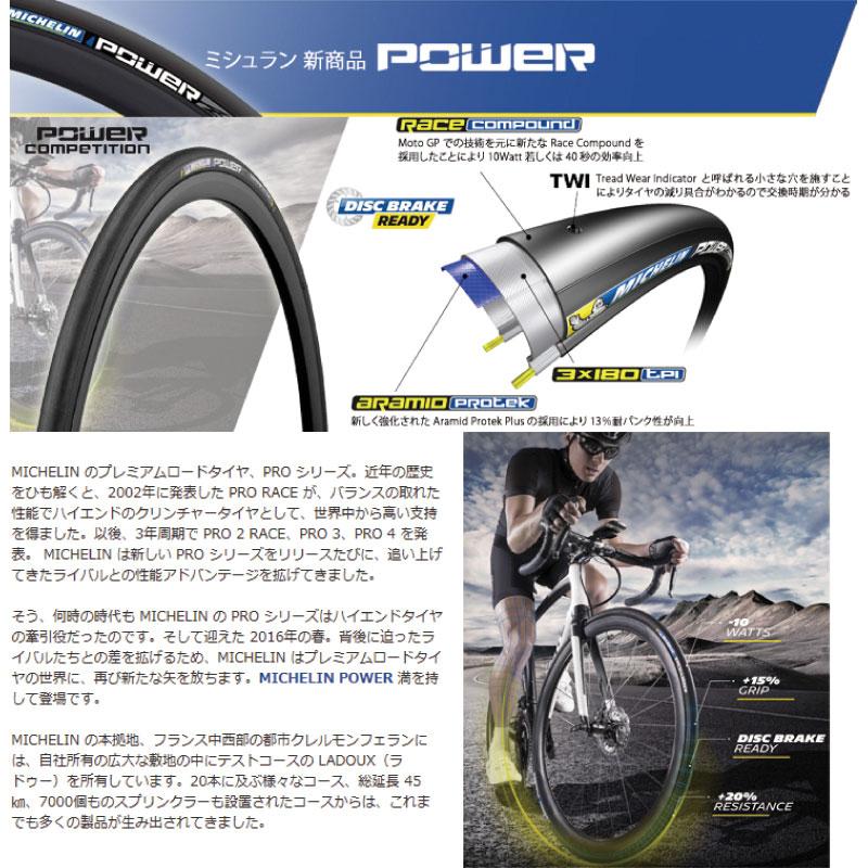 ミシュラン POWER competition 700X23C クリンチャータイヤ/ MICHELIN 自転車 パーツ