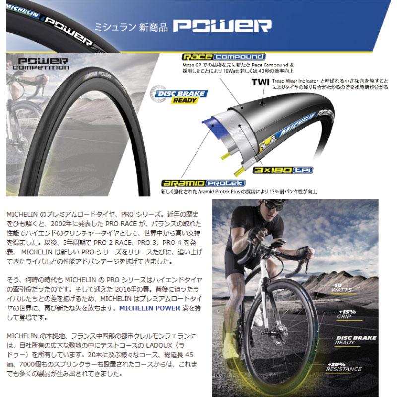 ミシュラン POWER competition 700X25C クリンチャータイヤ/ MICHELIN 自転車用 パーツ