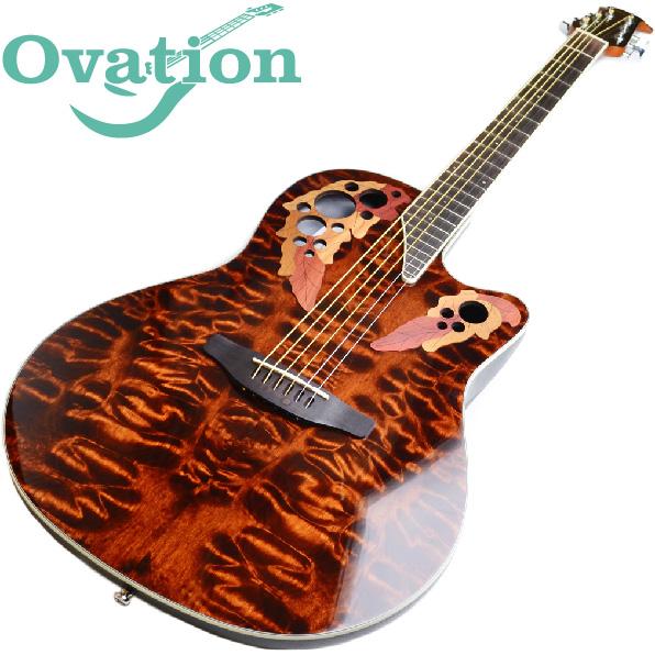 オベーション アコースティックギター【エレアコ】 OVATION Celebrity Elite Plus CE48P Super Shallow Body TGE エリートプラス エレクトリックアコースティックギター タイガーアイ