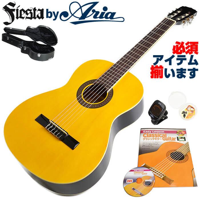 クラシックギター 初心者 セット フィエスタ by アリア FST-200 アコースティック (6点 入門 セット ハードケース)