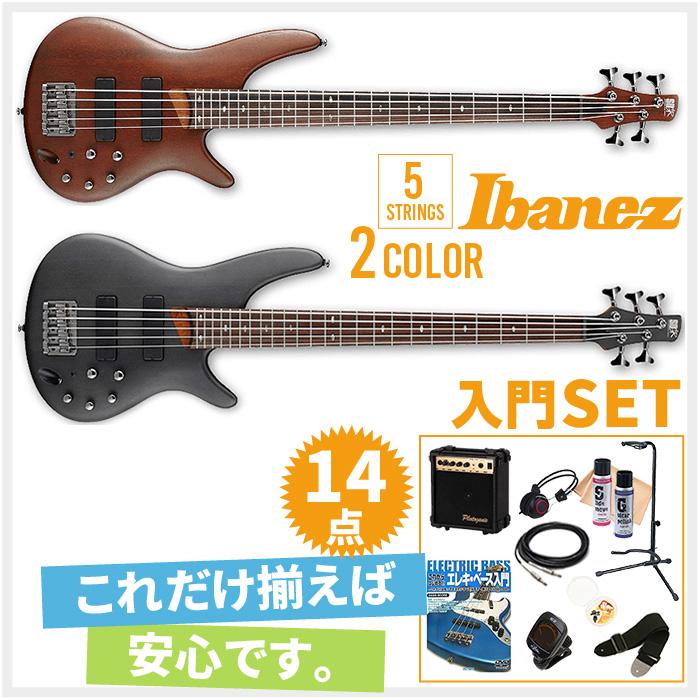 初心者セット 5弦ベースモデル エレキベース アイバニーズ 【ベース 14点 入門セット】 Ibanez SR505 ベースセット BASS