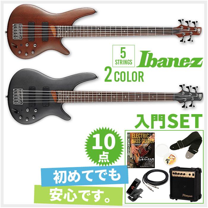 初心者セット 5弦モデル エレキベース アイバニーズ 【ベース 10点 入門セット】 Ibanez SR505 ベースセット BASS