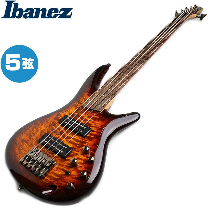 アイバニーズ 5弦モデル エレキベース Ibanez SR405EQM DEB SR-405EQM ドラゴンアイバースト