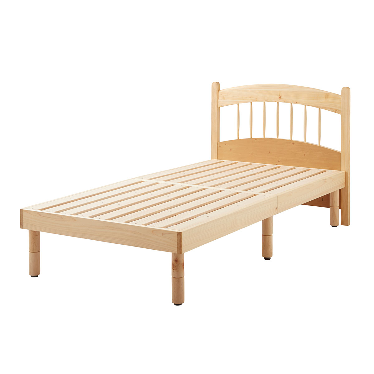 国産ヒノキ材を使用したヘッド付きシングルベッド 一人暮らしや二人暮らしに最適なサイズです 在庫限り 激OFF価格 すのこベッド ベッド シングル 頑丈 シンプル ベッドフレーム ブランド買うならブランドオフ 天然木フレーム ひのき 材 檜 桧 高さ2段階 敷布団 激安挑戦中 すのこ 高さ 木製 フロア シングルベッド 調節 脚付き ロー 天然木ベッド北欧 ローベッド Sサイズ 格子 宮付 高さ調節