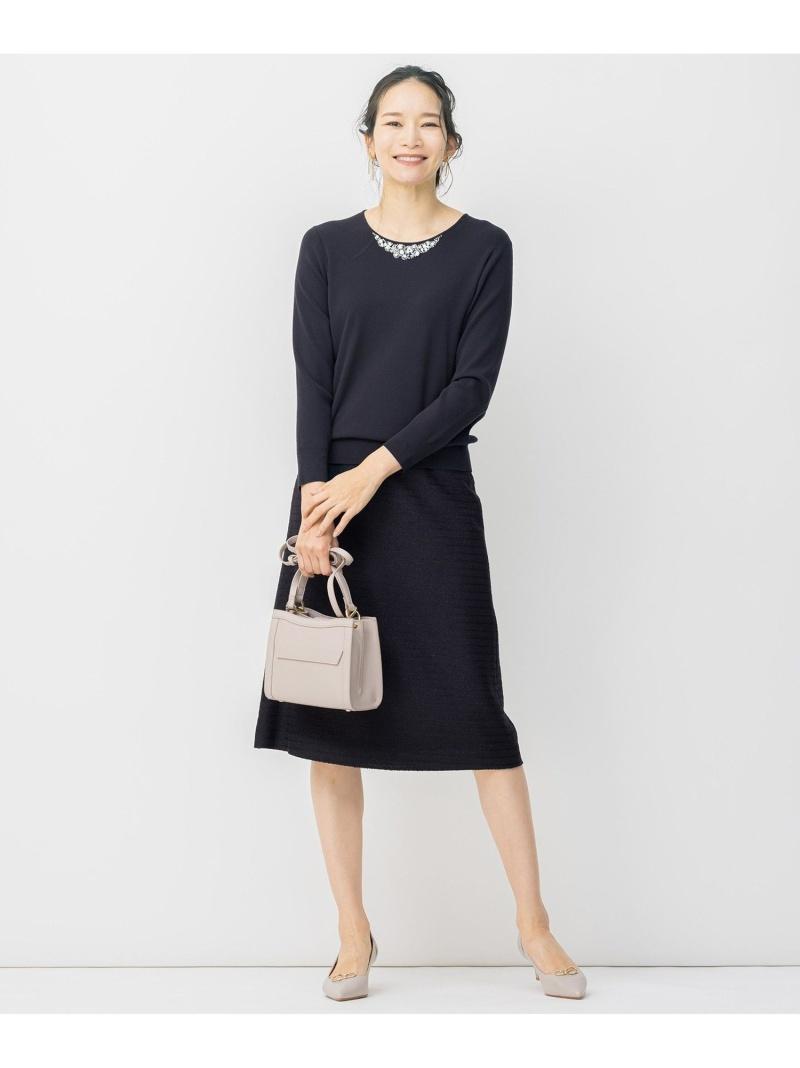 自由区 送料無料カード決済可能 レディース スカート ジユウク L カラミ ツイード ブラック ロングスカート ネイビー Rakuten Fashion 新作製品、世界最高品質人気! 送料無料