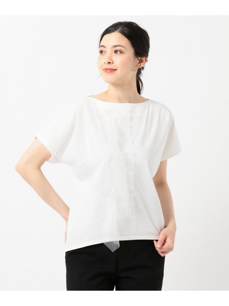自由区 レディース カットソー ジユウク Rakuten Fashion SALE 50%OFF Class Lounge 供え 送料無料 交換無料 RBA_E ホワイト Tシャツ ブラウン TECHNO ネイビー レッド RAMA チュールデザインTシャツ