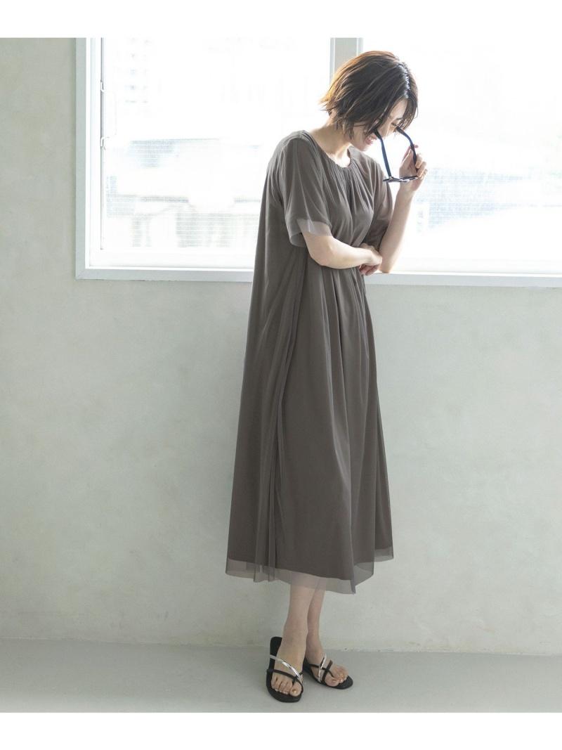 自由区 レディース 売れ筋 ワンピース ジユウク L シアー レイヤード Rakuten Fashion ブラック 送料無料 カットソーワンピース 購入 シャツワンピース グレー