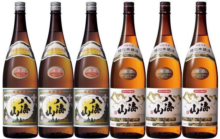 【送料無料】【八海山】清酒&特別本醸造 1800ml 6本セット【smtb-TD】【saitama】