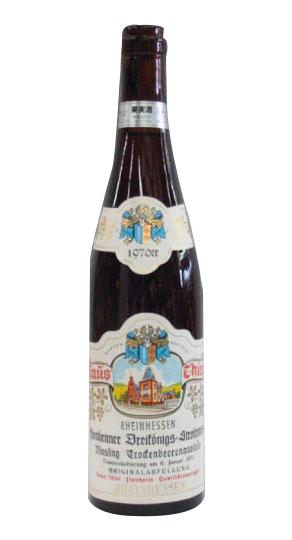 [1970]フロンハイマー ドライケーニッヒ シュトローワインリースリング トロッケンベーレンアウスレーゼ 700ml 白 藁貴腐ワイン・・F