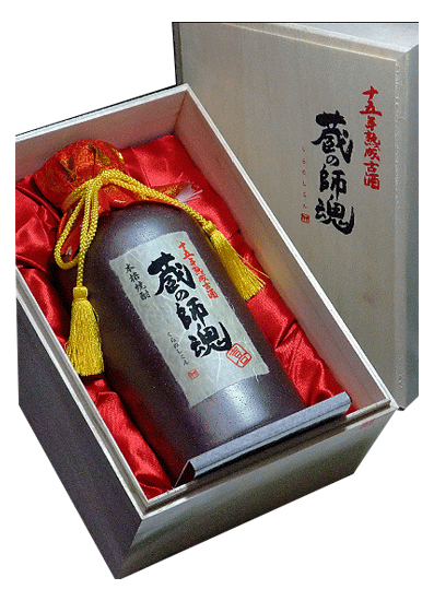 【数量限定商品】鹿児島 小正醸造蔵の師魂【喜】十五年熟成古酒 芋焼酎30度 720ml 木箱入