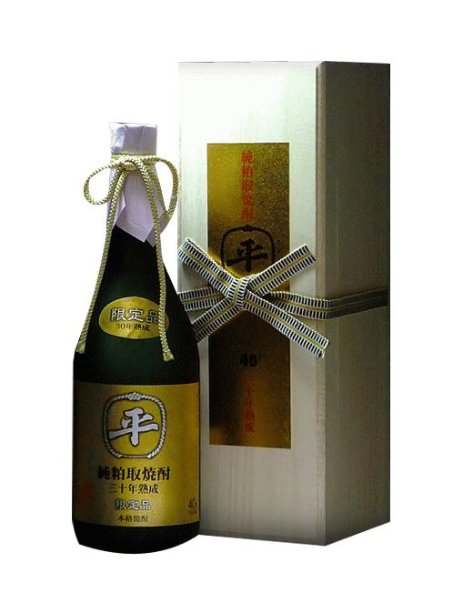 山形県 樽平酒造たるへい純粕取り本格焼酎三十年 40度 720mlオリジナル化粧箱入り