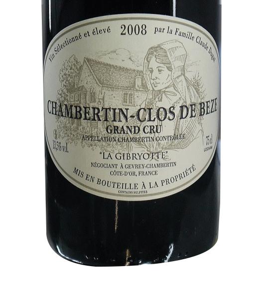 [2008]シャンベルタン クロ・ド・ベーズ 750ml 赤 グラン・クリュ ラ・ジブリオット
