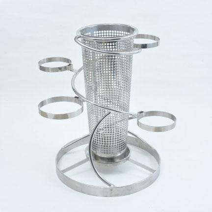 フラワーバスケット 彩の螺旋(円錐) フラワースタンド 花立 フラワー 花 花瓶 ステンレス