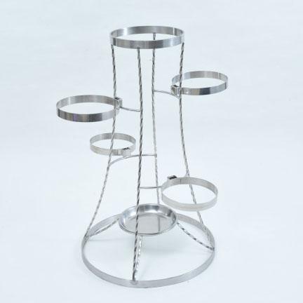 フラワーバスケット 彩の塔(煌) フラワースタンド 花立 フラワー 花 花瓶 ステンレス