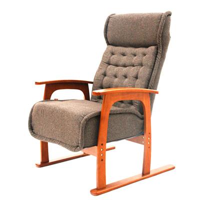 コイルバネ高座椅子【紅葉】 ブラウン・83-805/ チェア リビング イス【代引き不可】