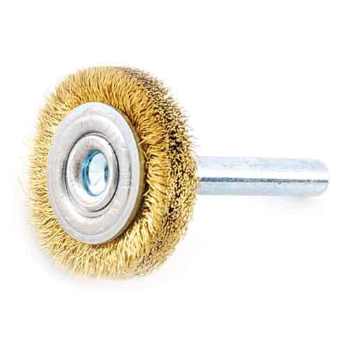 <title>先端工具 ドリルアタッチメントの軸付ワイヤブラシ30MM 銅 真鍮また木材などの表面研磨 汚れ落としバリ取りに最適です SK11 軸付真中ホイル 30MM OUTLET SALE 代引き不可</title>