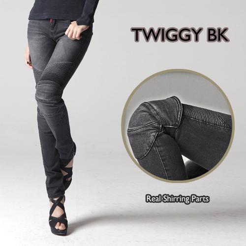 アグリーブロス 女性用ツイッギー ブラック uglyBROS MOTO PANTS TWIGGY BLACK(for Woman)アグリブロス バイクパンツ ライディングジーンズ バイク用デニム ジーンズ