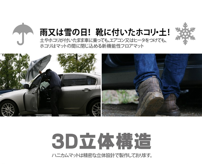 Toyota bB NCP30/NCP31/NCP34/NCP35 of RUZEN 6HOLE honeycomb structure double floor mats TOYOTA BB