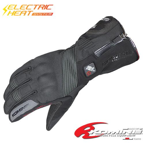 【電源別売り】電熱グローブ コミネ GK-804 エレクトリックヒートグローブ-カシウス KOMINE 06-804 バイクグローブ