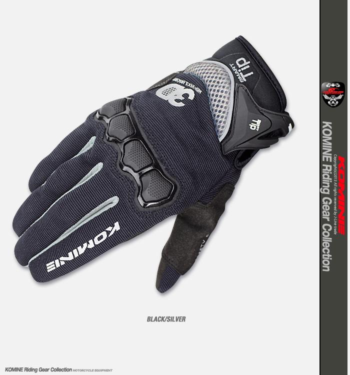 Komine GK-162 3D protected mesh gloves plus KOMINE 06-162 3D M-Gloves Protect Plus Smartphone for globe