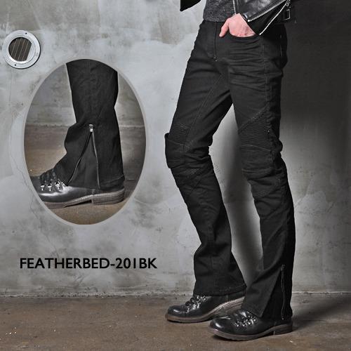 アグリーブロス フェザーベッド・ブラック201 uglyBROS MOTO PANTS FEATHERBED BLACK 201 アグリブロス バイクパンツ ライディングジーンズ バイク用デニム ジーンズ