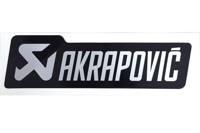 アクラポビッチ 耐熱サイレンサー ステッカー 135x40mm BLK/SLV/アルミ AKRAPOVIC