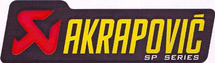 アクラポビッチ 耐熱サイレンサー ステッカー 120X34.5mm アルミ AKRAPOVIC