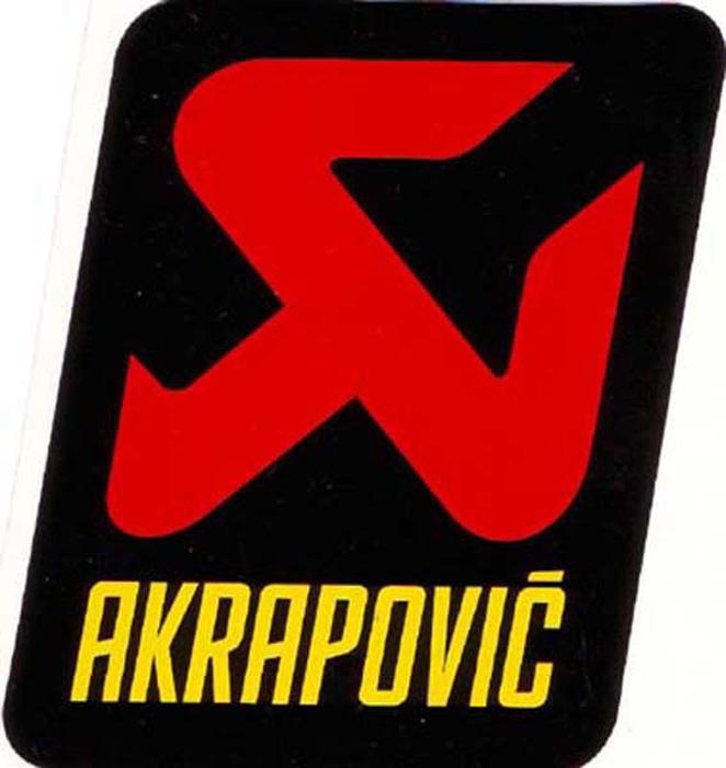 アクラポビッチ 耐熱サイレンサー ステッカー 55X75mm アルミ AKRAPOVIC