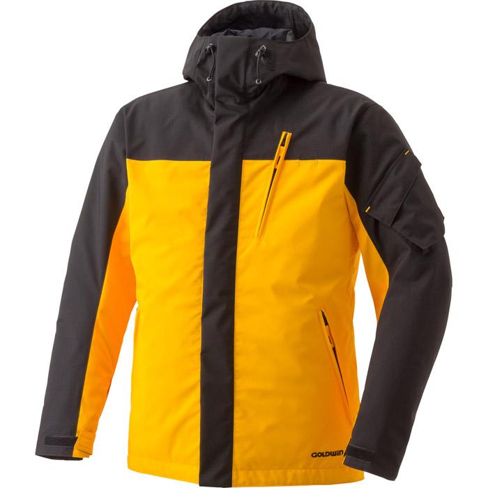 在庫処分 【サイズ交換不可】ゴールドウィン ウインターフーデッドジャケット ブラックxサンビーム GOLDWIN GSM12556 バイクジャケット 防水生地・透湿・防寒防風・プロテクション装備・リフレクション