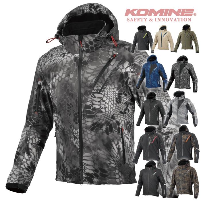 コミネ JK-579 通常サイズ プロテクトソフトシェルウィンターパーカ-イフ KOMINE 07-579 バイクジャケット CE規格パッド付 秋冬 メンズ レディース