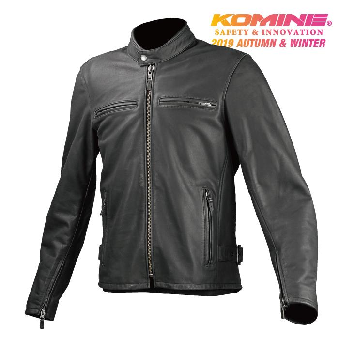 コミネ LJ-534 シングルライダースレザージャケット 春秋 2019年モデル KOMINE 07-742 CE規格パッド付 革 バイク ジャケット ストリート おしゃれ かっこいい