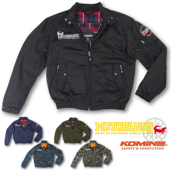 モトファンゴ JK-591 プロテクトスイングトップジャケット MOTOFANGO 07-591 春と秋 CE規格パッド付 ブルゾン バイクジャケット かっこいい 2018年モデル