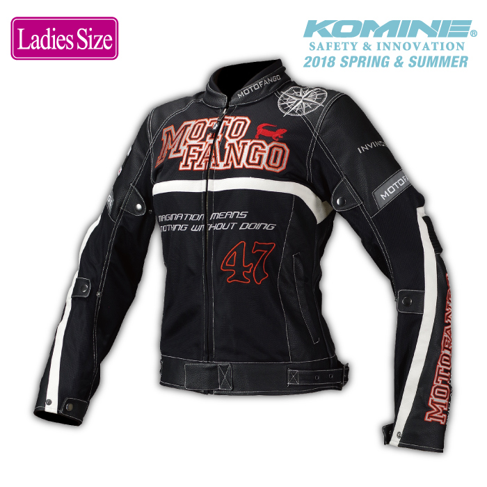 モトファンゴ MJ-002 女性サイズ プロテクトハーフメッシュジャケット レディース MOTOFANGO 17-002 コミネ KOMINE 2018年春夏モデル