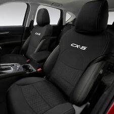 【KE系CX-5】「CX-5」ロゴ入りシートカバー 前席用左右セット 海外仕様純正アクセサリー
