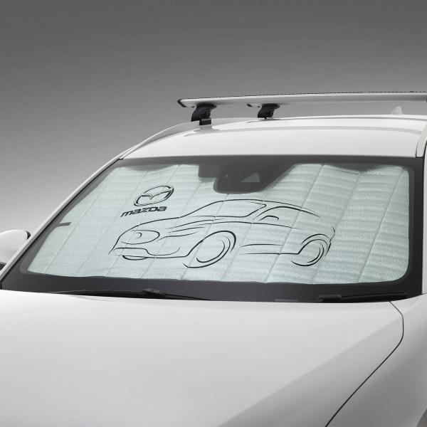 【KG系CX-8】「MaZDa」ロゴ入り サンスクリーンシェイド 海外仕様純正アクセサリー