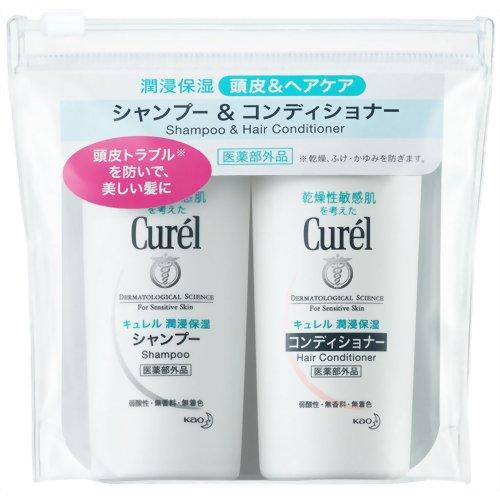 Curel Shampoo and Hair Conditioner mini-set 45ml+45ml Quasi-Drug 4901301253231 Kao Japan