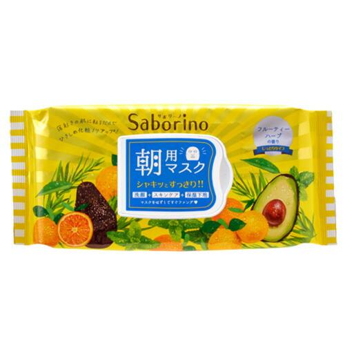 ◆saborino眼睛样子席供使用早晨的口罩滋润的类型◆《Saborino面罩席口罩时擦去短化妆品皮肤护理座席》