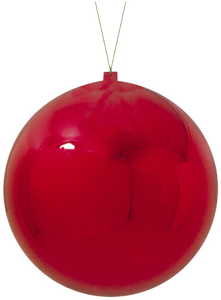 【クリスマス・装飾・カラフルボール】400mmメタリックユニボールレッド1ケ入り