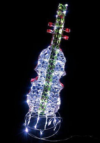 LEDクリスタルビーズモチーフ・バイオリン LED120球
