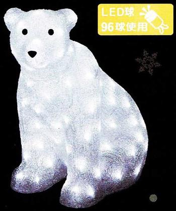LEDクリスタルモチーフ・ホワイトベア
