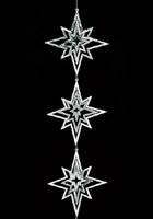 <title>クリスマス 装飾 オーナメント デコレーション スター スリーコンビスターガーランド 新入荷 流行 シルバー</title>