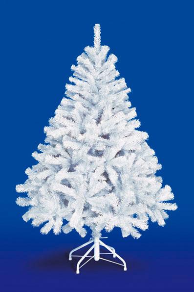 【クリスマス・ヌードツリー・装飾】150cmホワイトパインツリー(幹と枝が傘の様な部品で接続されておりパタパタ広げるタイプ)