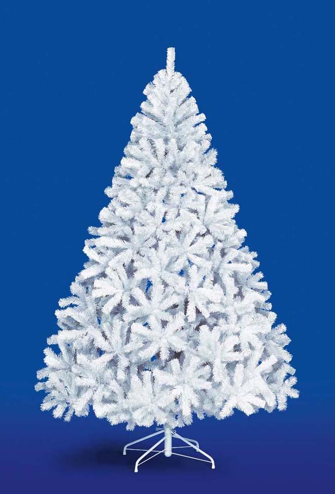【クリスマス・ヌードツリー・装飾】240cmホワイトパインツリー(幹と枝が傘の様な部品で接続されておりパタパタ広げるタイプ)