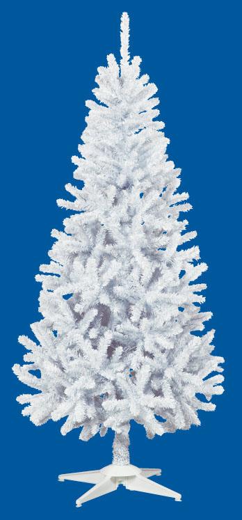 【クリスマス・ヌードツリー・装飾】180cmホワイトスリムツリー(枝が幹に巻きつけられており、手で直接広げるタイプ)